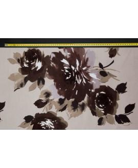 Tela NIVIA 2 terciopelo con rosas